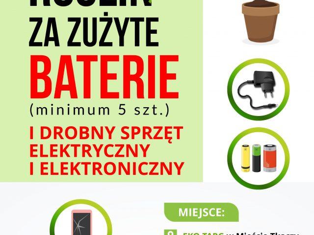 Sadzonki za zużyte baterie i drobny sprzęt elektryczny i elektroniczny